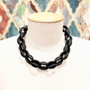 J. CREW oversized matte black link choker NWOT